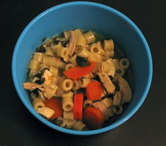 Chicken Basil Soup with Carrots: When All Else Fails, Make Soup.