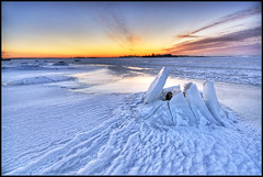 Ice Crater (mylhainen) Tags: winter ice sunrise helsinki searchthebest freezing balticsea february hdr naturesfinest 6exp outstandingshots