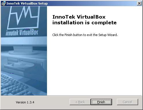 VirtualBox - installazione - completata