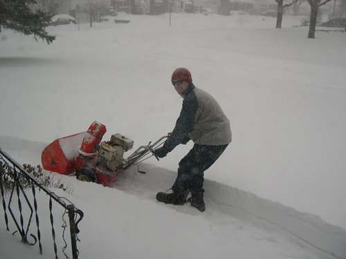 paul and the snowblower