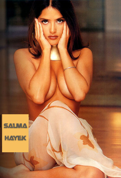 AFRICAN TRIBE WORSHIPS SALMA HAYEK'S BREASTS! (Link outdated.