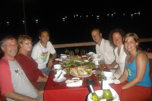 Eric, Gaylene, Tu, Mark, Marije, Sandra at Bien Ngoc restaurant