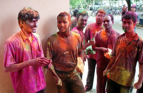 Cauvery fellows during holi festival