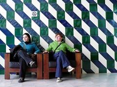 Pattern (Amaury Henderick) Tags: blue girls color colour green portugal chair groen blauw pattern vert dessin bleu porto remkoolhaas oma couleur oporto meisjes filles fauteuil kleur zetel casadamúsica patroon officeformetropolitanarchitecture