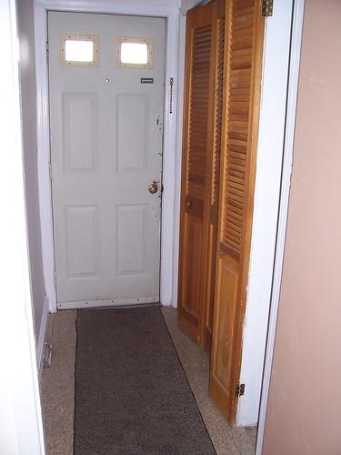 back door/closet