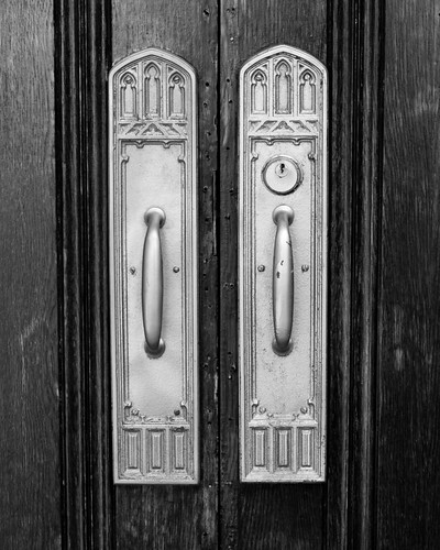 Detail, Doors of the First Presbyterian Church, Royal Oak, Michigan