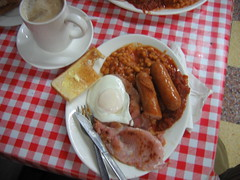Full English Breakfast at OK Cafe, Manchester