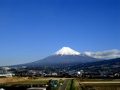 Fujiyama (gochie*) Tags: mountain window beautiful japan japanese fuji  nozomi fujiyama businesstrip superexpress   fugaku