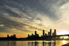 See You Tomorrow (espion) Tags: sunset singapore cbd singaporeriver 300v benjaminshearesbridge themehome