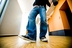 step with the right (frischmilch) Tags: orange woman colors dance colorful floor move jeans agency 16mm f28 silke agentur antwerpes iso500 110s