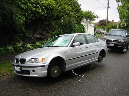 BMW Tires Stolen