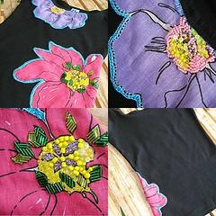 floral 4 (Bordados DaAna®) Tags: brazil flower floral brasil beads embroidery flor tshirt fabric applique missangas chita camiseta desperatehousewives tecido bordado aplique broderie terihatcher camisola aplicação brazilianchita chitabrasileira daana