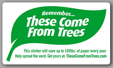 These Come From Trees Sticker