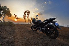 Journeys beyond the horizon (Motographer) Tags: sunset nikon sigma wideangle karnataka coorg madikeri bajaj kodagu pulsar200