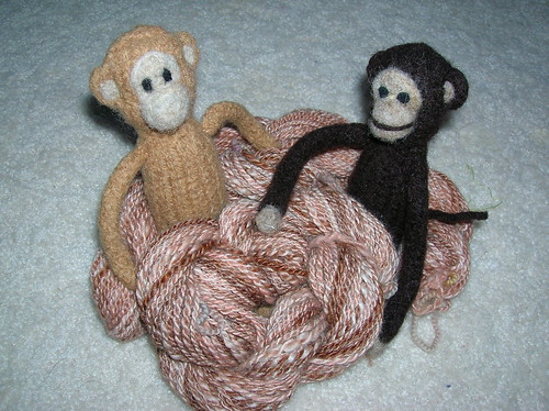 Cheeky Monkey sock yarn with Cheeky Little Monkeys