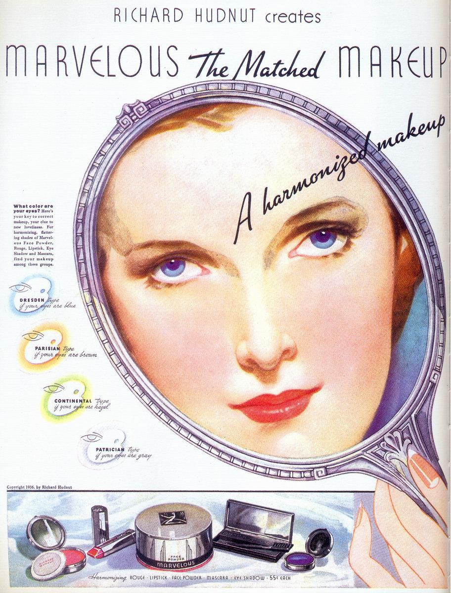 Vintage Ads Richard Hudnut Makeup 1936 - 1920s-makeup-ads
