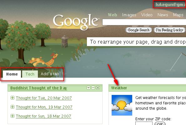 Google新的個人化首頁