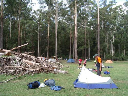 Campsite at Timbertown