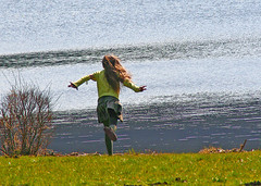 Joie de vivre - (rotraud_71 away again ~) Tags: lake water girl geotagged austria spring meadow globalvillage wallersee salzburgerland globalcity colorphotoaward invitedphotosonly gvadminshalloffame itsabeautifulgv