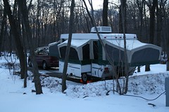 camping winter snow canon eos woods hike rv starcraft camper campsite frenchcreek 400d digitalrebelxti gordystith