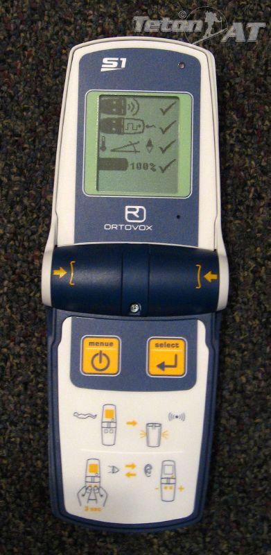 Ortovox S1 self-test screen