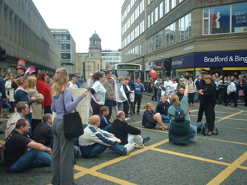 Newcastle BSL March: Road Block