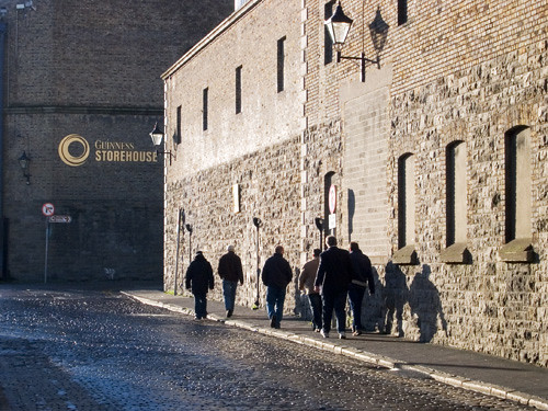 Approaching Guinness Storehouse Museum