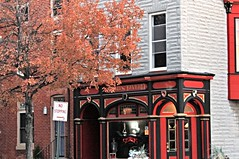 Upper Fells Point ~ Spirits Tavern - HWW! (karma (Karen)) Tags: baltimore maryland upperfellspoint taverns spiritstavern windows walls signs trees fallcolor