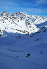 The Finest Motion Known to Man (David Roberts 01341) Tags: skiing skitouring skirandonnee alps switzerland suisse italy italia grandsaintbernard offpiste