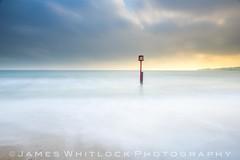 Seeing Red (James Whitlock Photography) Tags: uk england dorset swanage post pier sea waves sun sunrise sky cloud beach sand long exposure nikon d810 lee filters gitzo