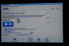 Socialtext on a Wii