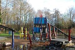 Playground Beatrixpark, Schiedam, the Netherlands (Miek37) Tags: blue holland netherlands dutch architecture geotagged nikon schiedam nikor d80 nikond80 18135mmf3556g geo:lon=4386871 geo:lat=51929389 fortdrakensteijn