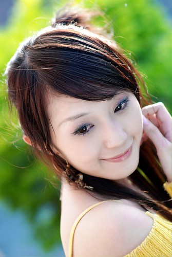 Sexy Asian Beauty in Smile Face
