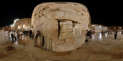 Western Wall - Kotel - Jerusalem, Old City - 360 (Sam Rohn - 360 Photography) Tags: travel panorama beautiful wall architecture night geotagged photography israel photo interesting nikon peace exterior d70 nikond70 availablelight jerusalem middleeast synagogue paz location panoramic photograph jewish pace judaism nikkor filmmaking stitched holyland filmproduction 360x180 oldcity qtvr scouting 360 paix westernwall 360x180 judiasm jewishquarter panography alquds kotel filmlocation locationscouting virtualtour locationscout equirectangular 105mmf28gfisheye filmlocations rohn filmscouting nylocations samrohn realvizstitcher geo:lat=31776756 locationscouts geo:lon=35234195 virtualjerusalem filmscout virtiualtour