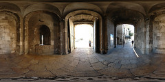 Jaffa Gate - Jerusalem, Old City - 360 (Sam Rohn - 360 Photography) Tags: travel panorama architecture geotagged photography israel photo interesting nikon gate arch peace exterior d70 nikond70 availablelight interior palestine jerusalem middleeast paz location panoramic medieval photograph pace vault judaism vaulted nikkor filmmaking stitched holyland filmproduction 360x180 oldcity islamic qtvr scouting 360 paix 360x180 panography alquds filmlocation locationscouting virtualtour locationscout jaffagate equirectangular 105mmf28gfisheye filmlocations rohn filmscouting nylocations samrohn realvizstitcher locationscouts geo:lat=3177662 geo:lon=35227393 virtualjerusalem filmscout virtiualtour