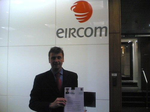 Broadband Petition delivered to Eircom