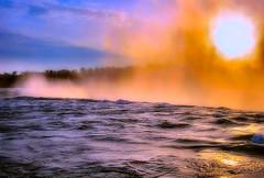 Niagara Falls 008 (Jamie Scearce) Tags: sunset ontario canada fog tourist niagara waterfalls