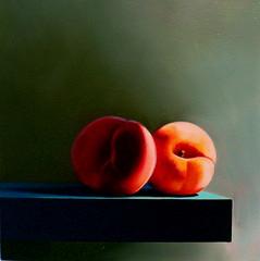 Peaches (still-life) Tags: lighting stilllife art fruit painting paint artist santamonica peach surreal canvas chiarascuro painter oil oilpainting representational brucecohen