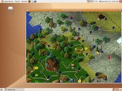 Ubuntu - Widelands game Screenshot