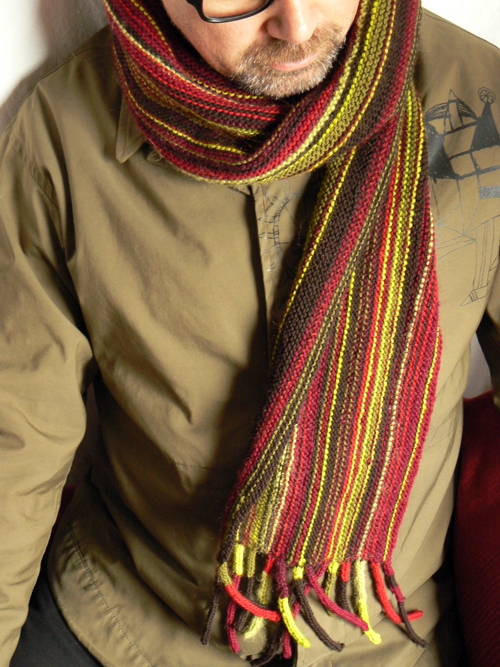 stripy scarf FO