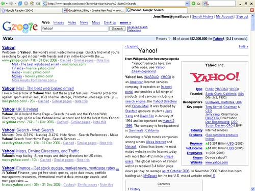 Screenshot - Googlepedia