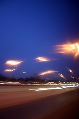 night traffic (ascendent) Tags: blue chicago motionblur drivebyshooting nighttraffic abstractlight instantfave