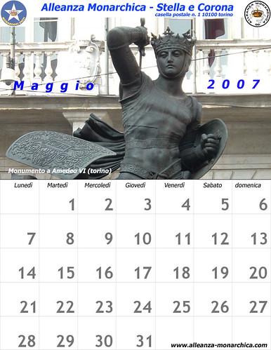 Calendario maggio  2007