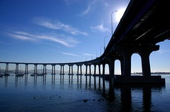 Coronado Bridge, San Diego, California (Thad Roan - Bridgepix) Tags: california bridge blue sky photo sandiego bridges coronado bridging bridgepixing bridgepix 200701