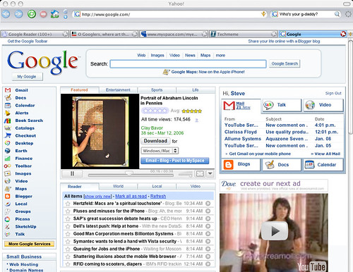 355289094 451c78df2a What if Google made a Yahoo like Start up page?