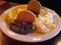Haggis Neeps & Tatties at Clever Dicks on Edinburgh's Royal Mile