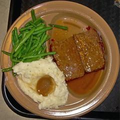 Meatloaf meal (Morton Fox) Tags: 15fav food potatoes nj mashedpotatoes squaredcircle bergen meatloaf bostonmarket stringbeans parkridge