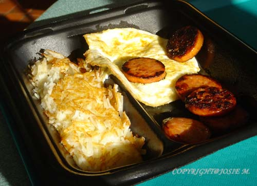 Portugese Sausage with Egg w/ hash brown
