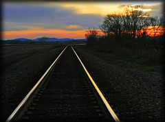 walk the line (jaki good miller) Tags: railroad sunset interestingness tracks explore exploreinterestingness jakigood pikecounty trax walktheline aroundthebend top500 explorepage explored outstandingshots explorepages abigfave skiesandscapes
