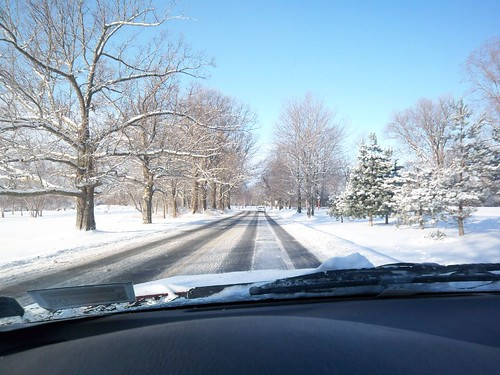 Winter's Drive: Passing by the Genesee Valley Golf Course